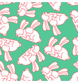 bunny sex pattern rabbit intercourse ornqment vector image vector image