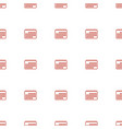 calendar icon pattern seamless white background vector image vector image