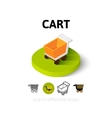 Cart icon in different style
