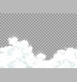 clouds isolated on a transparent background vector image vector image