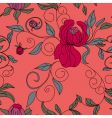 colorful floral seamless wallpaper vector image