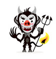 cute cartoon imp funny emotions monsters vector image