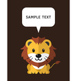 Cute Lion In Flat Design Style With Speach Bubble vector image vector image