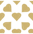decorative seamless pattern with hearts vector image vector image