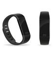 digital smart fitness watch bracelet with vector image
