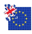 European Union flag divided into jigsaw puzzle vector image