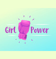 feminism slogan with hand drawn lettering girl vector image
