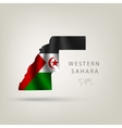 Flag of WESTERN SAHARA as a country with a shadow vector image