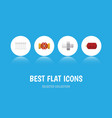flat icon sanitary set of connector radiator vector image