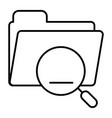 folder with magnifier thin line icon search in vector image vector image