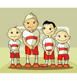 four soccer player vector image