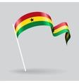 Ghanaian wavy flag vector image vector image