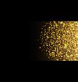 gold glitter texture irregular confetti border on vector image