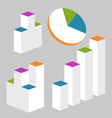 Graph Modern infographics set vector image