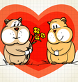 Hamster greets his girlfriend vector image vector image