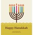 happy hanukkah jewish holiday vector image vector image