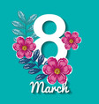 happy womens day decoration vector image