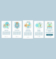 hotel booking onboarding mobile app page screen vector image vector image