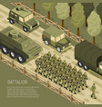 isometric military campaign background vector image