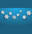large paper christmas hanging snowflakes vector image vector image