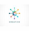 logo - creative technology tech icon and symbol vector image vector image
