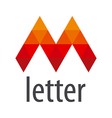 logo red letter M module vector image vector image