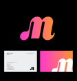 m monogram pink web network digital business vector image vector image