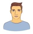Man portrait vector image vector image