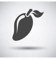 Mango icon on gray background vector image