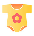 newborn clothes flat icon baby suit color icons vector image vector image