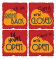 openclosed1 vector image vector image