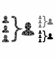 Organization structure composition icon of