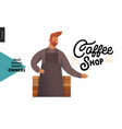owners - small business graphics - coffee shop vector image vector image