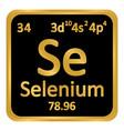 periodic table element selenium icon vector image vector image