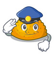 police character jamaican patties on the grill vector image