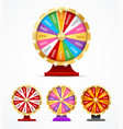 realistic 3d detailed casino fortune wheel set vector image vector image