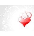 Red heart with a grey background vector image