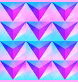 retro purple triangle seamless pattern vector image vector image