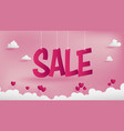 sale banner of valentines conception vector image vector image