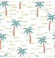 scandinavian pattern with tree palm vector image vector image