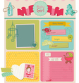 Scrapbook Design Elements - Baby Girl Cute Set vector image vector image