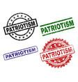 scratched textured patriotism stamp seals vector image vector image