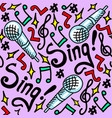 sing seamless pattern vector image vector image