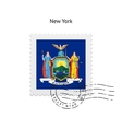 State of New York flag postage stamp vector image