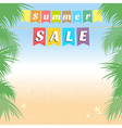 Summer holiday sales background banner vector image vector image