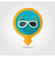Sunglasses pin map flat icon Summer Vacation vector image