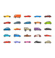 transport cars icons vector image