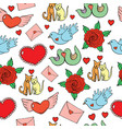 valentine s day seamless pattern with hearts vector image vector image
