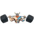 viking gym mascot vector image vector image
