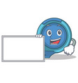 with board tape measure character cartoon vector image